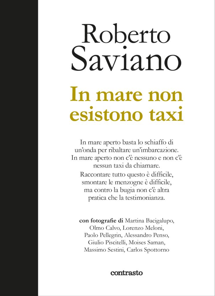 Copertina libro In mare non esistono taxi ( Roberto Saviano - Contrasto)